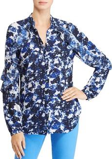 Lauren Ralph Lauren Floral Print Ruffle Blouse