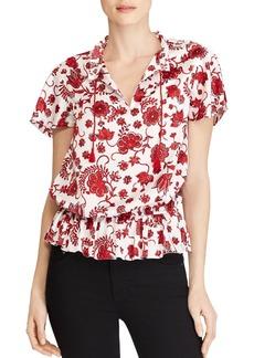 Lauren Ralph Lauren Floral-Print Tassel-Tie Top