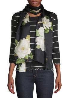 Lauren Ralph Lauren Floral Printed Silk Scarf