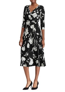 Lauren Ralph Lauren Floral Printed Wrap Dress