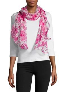 Lauren Ralph Lauren Floral Ruffle Silk Scarf