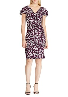 Lauren Ralph Lauren Floral Ruffle-Sleeve Dress