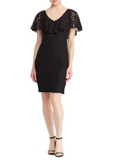 Lauren Ralph Lauren Floral Ruffled Lace Dress