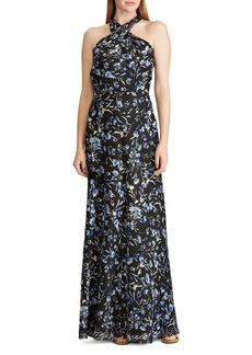 Lauren Ralph Lauren Floral Satin Gown