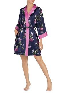 Lauren Ralph Lauren Floral Satin Kimono Robe