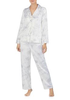 Lauren Ralph Lauren Floral Satin Pajama Set