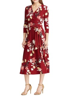 Lauren Ralph Lauren Floral Self-Tie Dress