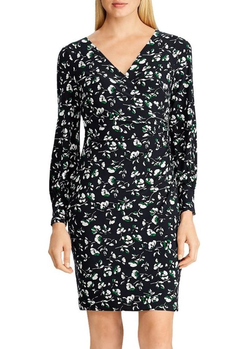 Lauren Ralph Lauren Floral Shirred Jersey Dress
