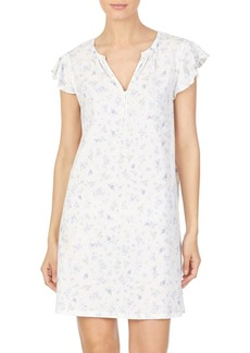Lauren Ralph Lauren Floral Short Cotton Sleepshirt