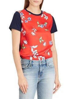 Lauren Ralph Lauren Floral Short-Sleeve Tee