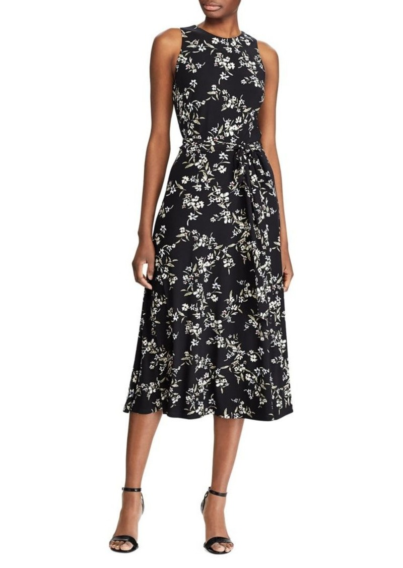 Lauren Ralph Lauren Floral Sleeveless Midi Dress
