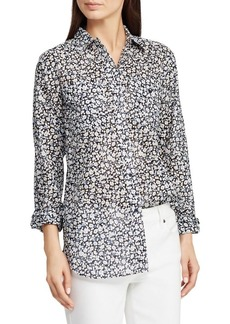 Lauren Ralph Lauren Floral Straight-Fit Cotton Voile Button-Down Shirt