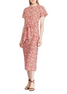 Lauren Ralph Lauren Floral Tie-Front Midi Dress