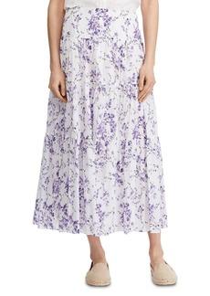 Lauren Ralph Lauren Floral Tiered Skirt