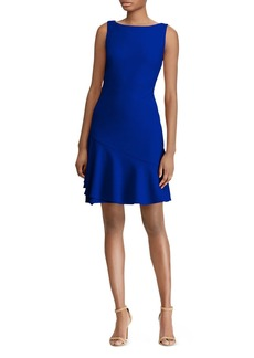 Lauren Ralph Lauren Flounced Jersey Dress