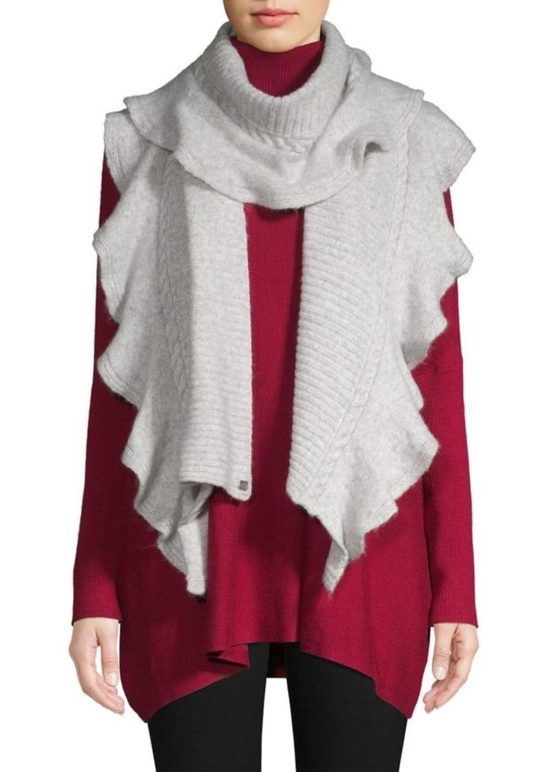 Lauren Ralph Lauren Flounced Ribbed-Knit Scarf