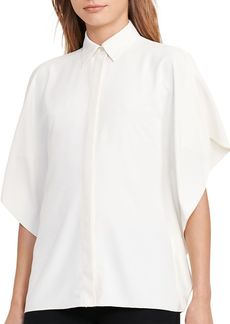 Lauren Ralph Lauren Flutter Sleeve Blouse
