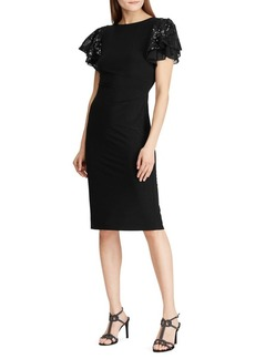 Lauren Ralph Lauren Flutter-Sleeve Cocktail Dress