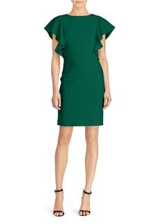 Lauren Ralph Lauren Flutter-Sleeve Crepe Dress - 100% Exclusive