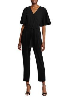 Lauren Ralph Lauren Flutter-Sleeve Crepe Jumpsuit