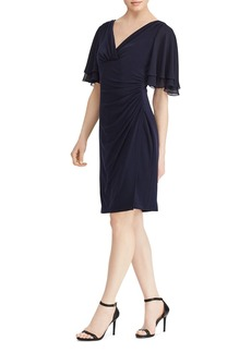 Lauren Ralph Lauren Flutter-Sleeve Jersey Dress