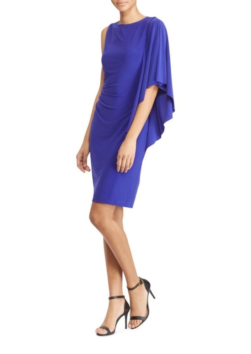 Lauren Flutter-Sleeve Sheath Dress. Ralph Lauren
