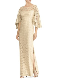 Lauren Ralph Lauren Flutter-Sleeve Lace Gown - 100% Exclusive