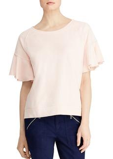 Lauren Ralph Lauren Flutter-Sleeve Sweatshirt