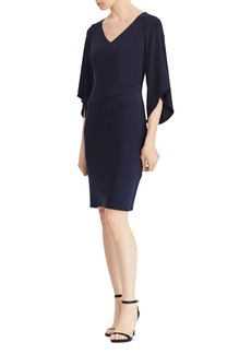Lauren Ralph Lauren Flutter-Sleeve V-Neck Dress