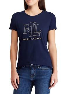 Lauren Ralph Lauren Foil-Logo Crewneck Tee
