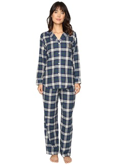 LAUREN Ralph Lauren Folded Brushed Twill PJ