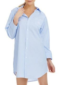 Lauren Ralph Lauren French Striped Sleep Shirt