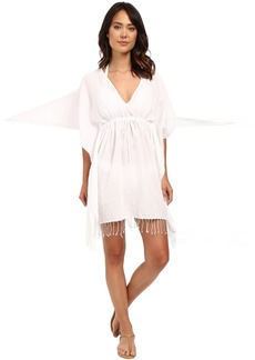 LAUREN Ralph Lauren Fringed Cotton Tunic Cover-Up