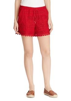 Lauren Ralph Lauren Geo-Lace Drawstring Shorts