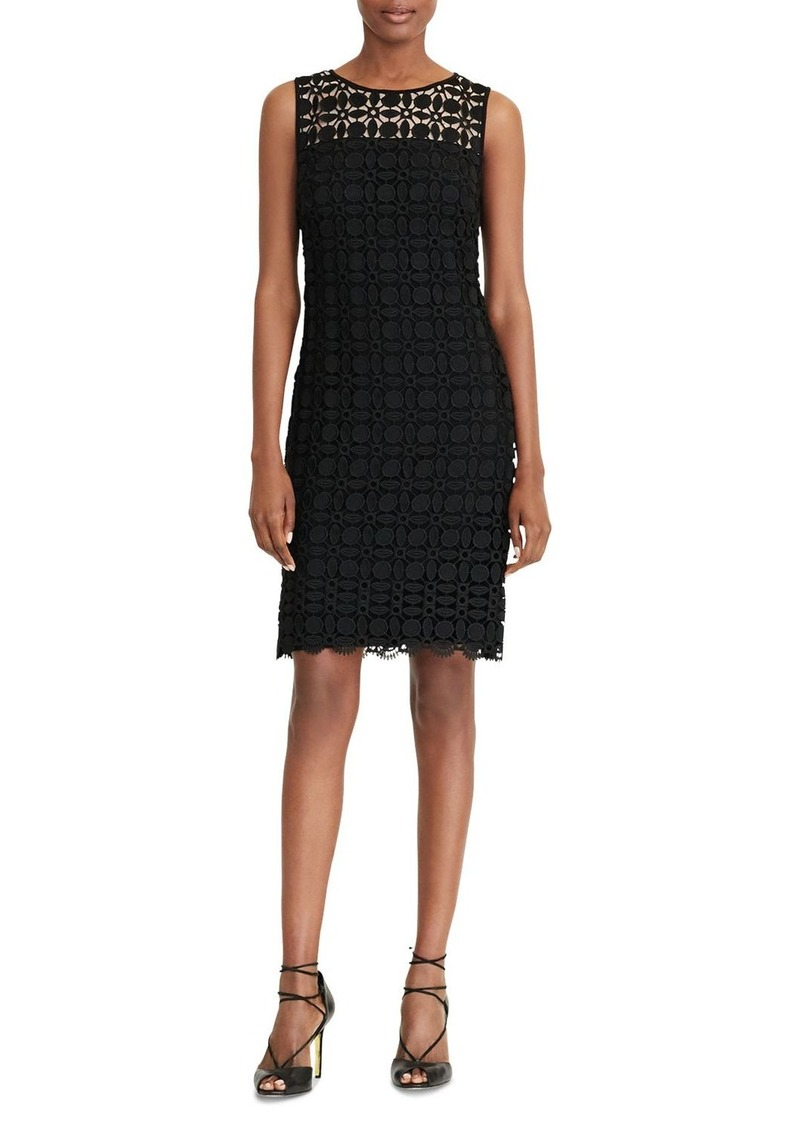 Lauren Ralph Lauren Geometric Lace Sheath Dress