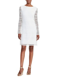 LAUREN RALPH LAUREN Geometric Lace Shift Dress