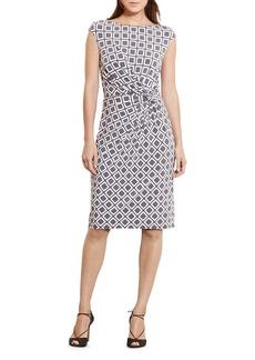 Lauren Ralph Lauren Geometric-Pattern Sheath Dress