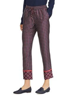 Lauren Ralph Lauren Geometric-Print High-Rise Pants