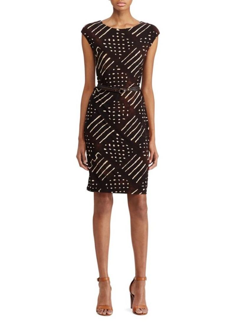Ralph Lauren Lauren Ralph Lauren Geometric-Print Jersey Dress ...