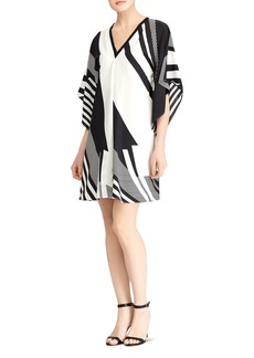 Lauren Ralph Lauren Geometric Print Poncho Dress