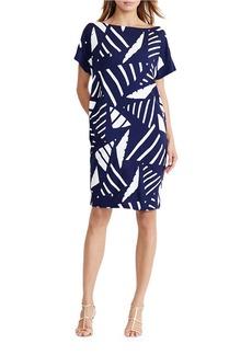 LAUREN RALPH LAUREN Geometric-Print Shift Dress