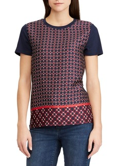 Lauren Ralph Lauren Geometric-Print Short-Sleeve Tee