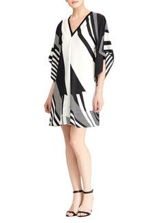 Lauren Ralph Lauren Geometric Printed V-neck Dress