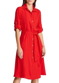 Lauren Ralph Lauren Georgette Belted Shirt Dress