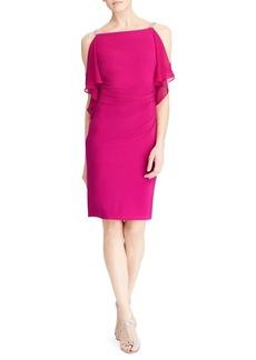 Lauren Ralph Lauren Georgette-Panel Jersey Dress