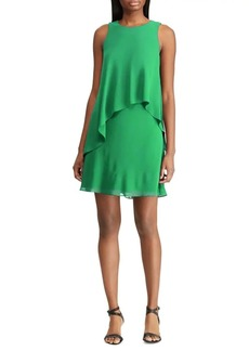 Lauren Ralph Lauren Georgette Sleeveless Shift Dress