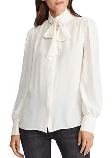Lauren Ralph Lauren Georgette Tie-Collar Blouse