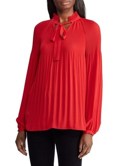 Lauren Ralph Lauren Georgette Tie-Neck Top