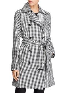 Lauren Ralph Lauren Gingham Trench Coat