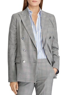 Lauren Ralph Lauren Glen Plaid Double-Breasted Blazer